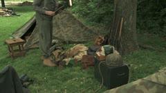 WW2 German Camp Stock Footage