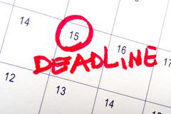 Stock Photo of deadline