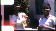 Black TEENAGE GIRLS Friends African American 1960s Vintage Film Home Movie 5270 Stock Footage