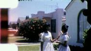 TEENAGE GIRLS Black African American Suburbs 1960s Vintage Film Home Movie 5271 Stock Footage