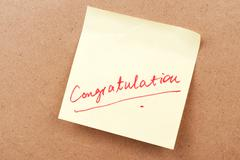 Stock Photo of congratulation word