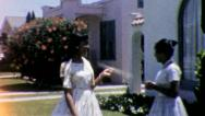 AFRICAN AMERICAN Young Black Teen Girls 1960s Vintage Film Home Movie 5273 Stock Footage