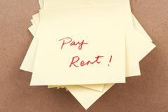 Stock Photo of pay rent words