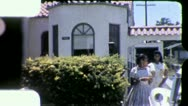 TEENAGE Black GIRLS African American Suburbs 1960s Vintage Film Home Movie 5275 Stock Footage