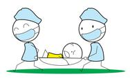 Emergency patient Stock Illustration