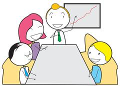 meeting - stock illustration