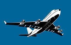 Commercial jet plane airliner flying Stock Illustration
