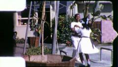 Black CHILDREN DANCING African American 1970sVintage Film Home Movie 5279 Stock Footage