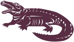 Alligator crocodile Stock Illustration
