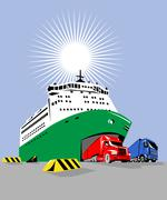 Matkustaja-aluksen Piirros