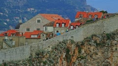 Dubrovnik old city walls Stock Footage