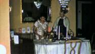 Black Family DINNER TABLE African American 1960s Vintage Film Home Movie 5286 Stock Footage