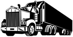 Truck container van Stock Illustration