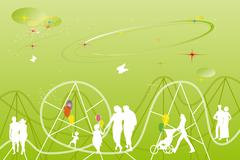 Leisure park Stock Illustration