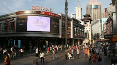 Shenzhen Pedestrian Shopping Street, Store, Digital Signage, SEZ, Display Stock Footage