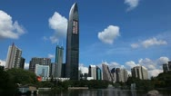 Stock Video Footage of Shenzhen Cityscape China Chinese Busy Big City Skyline Skyscrapers Towers Day