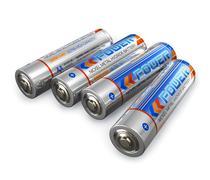 AA size batteries - stock illustration