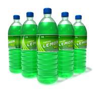 Set of lemon drinks in plastic bottles Stock Illustration