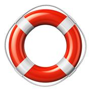 Red lifesaver belt - stock illustration