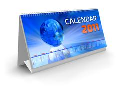 Desktop calendar 2011 Stock Illustration