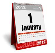 Desktop calendar 2012 Stock Illustration
