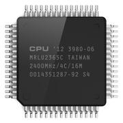 Computer microchip - stock illustration