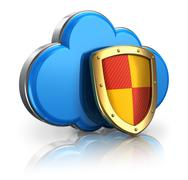 Cloud computing and storage security concept Stock Illustration