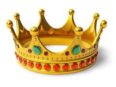 Golden royal crown Stock Illustration