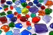 Stock Illustration of Color gemstones