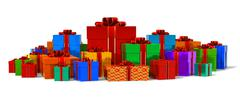 Heap of color gift boxes Stock Illustration