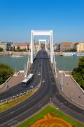 Elisabeth bridge in Budapest, Hungary Stock Photos