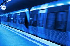 Metro station blueprint - stock photo