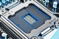 CPU socket on motherboard - stock photo