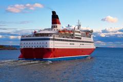Big cruise liner - stock photo