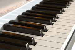 Piano keyboard with selective focus effect - stock illustration