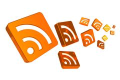 RSS concept - stock illustration