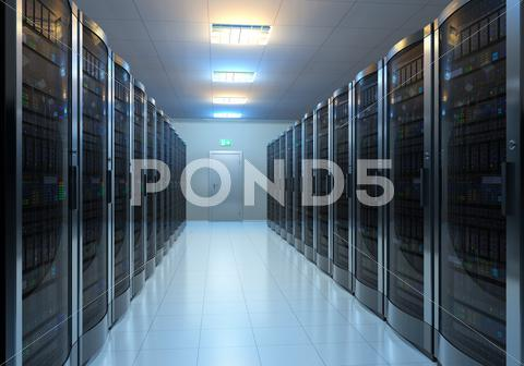 Stock photo of Server room interior