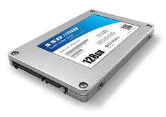 128GB solid state drive (SSD) - stock illustration