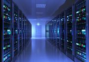 Server room interior Stock Illustration