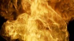 Exploding Fire and Flame with Fragments and Shrapnel Stock Footage