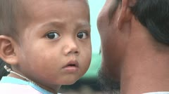 Asian Boy In The Slums Of Bangkok - stock footage