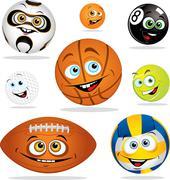 Funny balls Stock Illustration