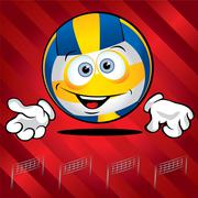 Funny smiling volley ball Stock Illustration