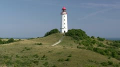 Lighthouse on Hiddensee Island - Baltic Sea, Northern Germany Stock Footage