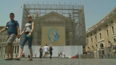 St Peters having restoration work (one) Stock Footage