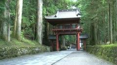 Gate to Nikko Futarasan Jinja Stock Footage