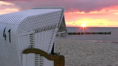 Sunset at the Baltic Sea - Northern Germany Stock Footage