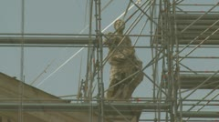 Stock Video Footage of Statues at St Peters clean up (1)