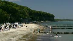Summertime in Heiligendamm - Baltic Sea, Northern Germany Stock Footage