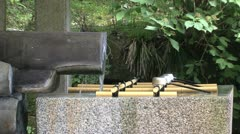 Holy Water shrine Nikko Stock Footage